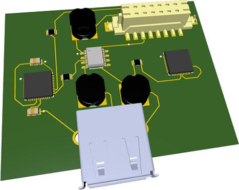 3d model of a board